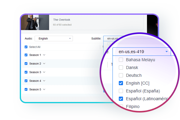 Choose your subtitle while downloading Hulu streaming videos