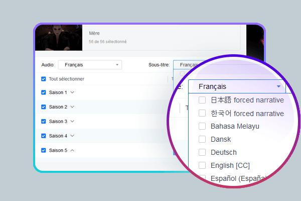 Choisissir votre sous-titre lors du téléchargement de vidéos en streaming Hulu