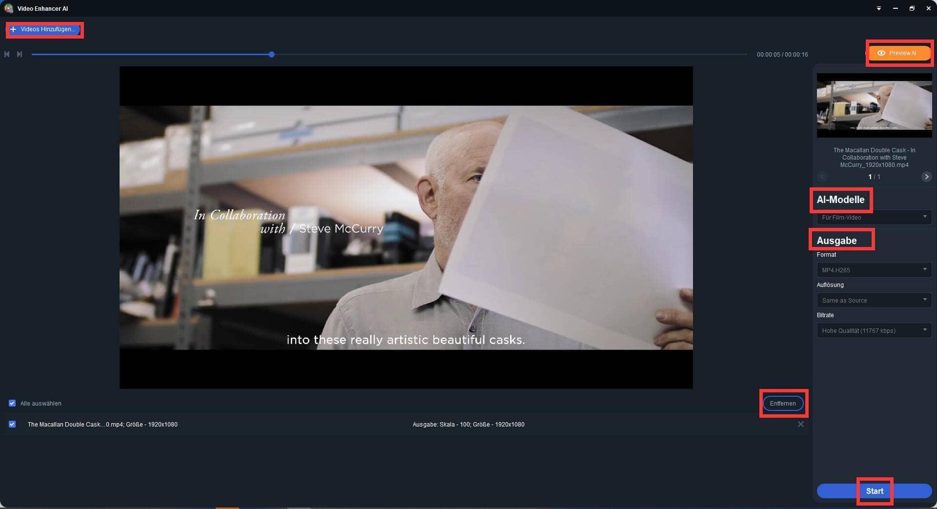 Video Enhancer AI Anleitung 2