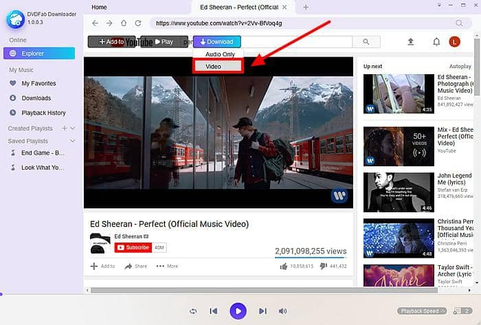 YouTube video download site