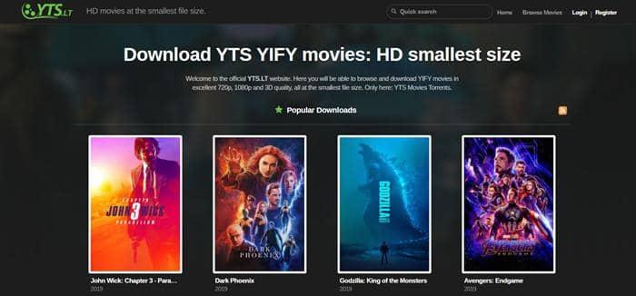Stream 1080p movies on YTS Movies