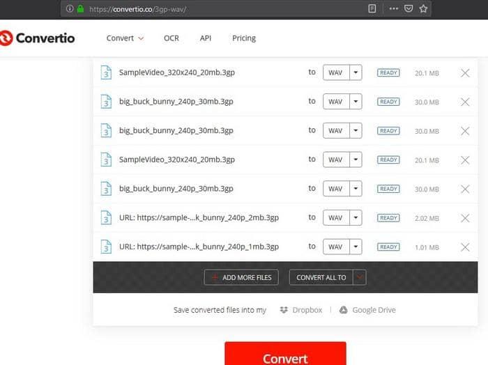 3gp to wav online converter