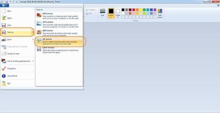 Convert AVI to GIF on VLC