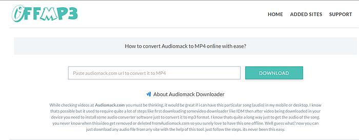 Audiomack downloader