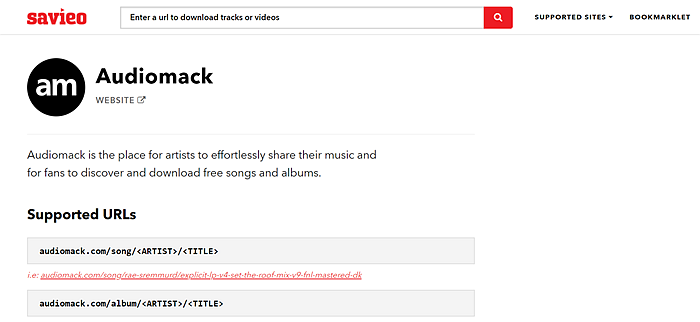 Download audiomack music