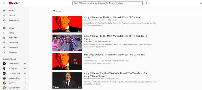 download christmas songs from youtube