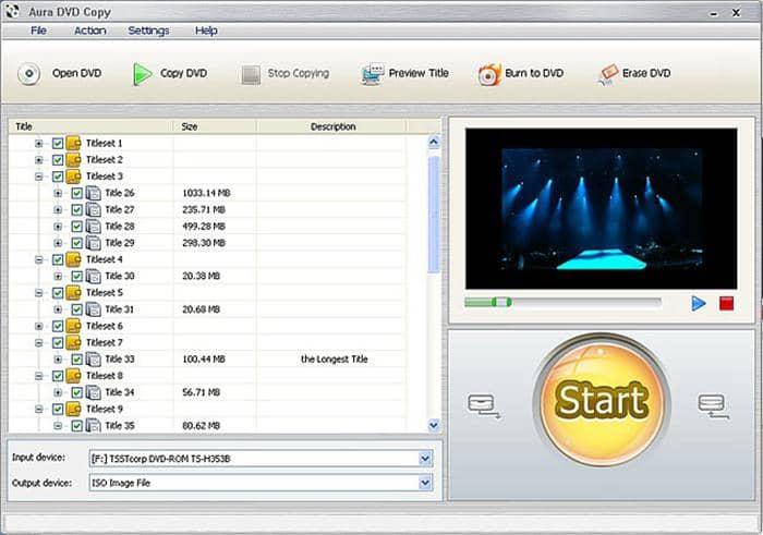 Aura DVD Copy free DVD decrypter