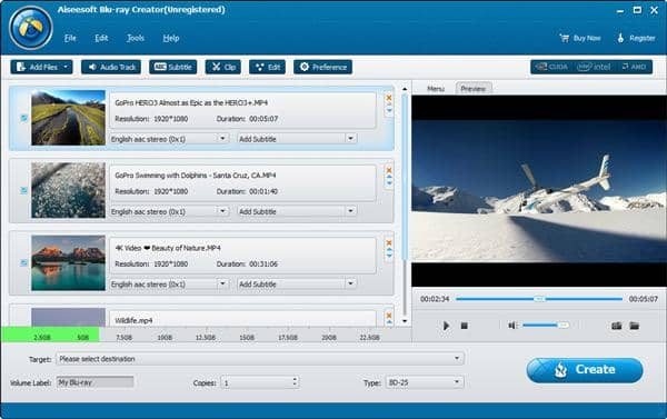 Blu-ray Authoring Software with Customized Options