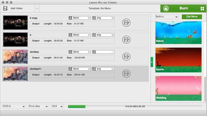 Alternative Blu ray Burning Software Mac Program