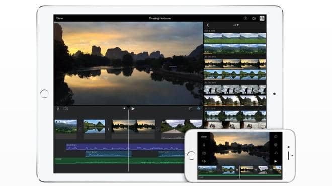 Launch a New Project in imovie on ipad