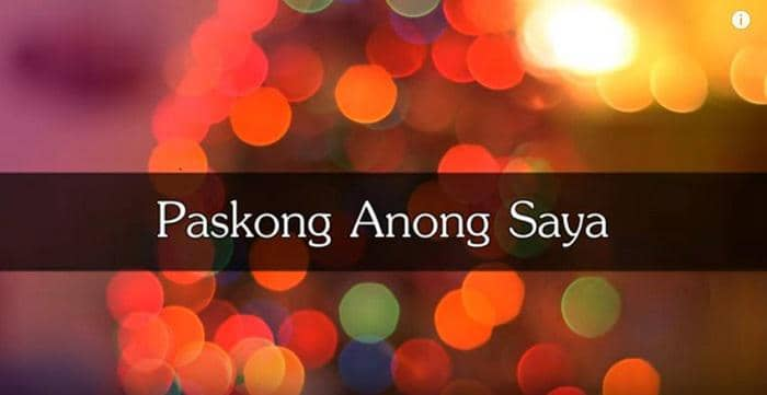 christmas songs in tagalog