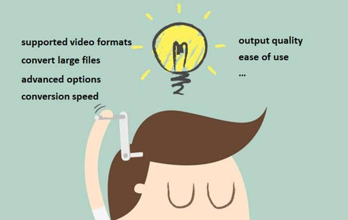 the factors you should take into consideration when choose a video converter