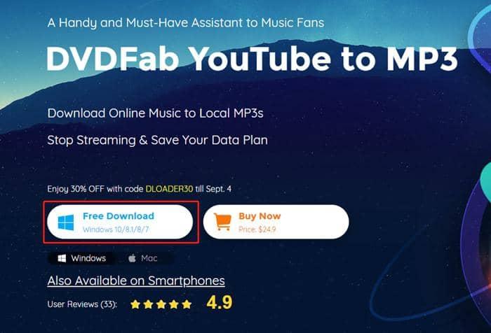 dvdfab youtube to mp3 - installer