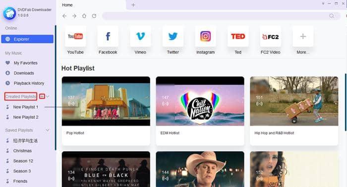 dvdfab youtube to mp3 - playlist creation