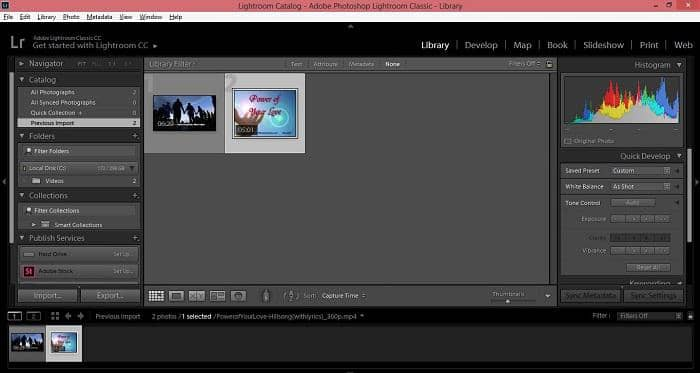 lightroom video editing