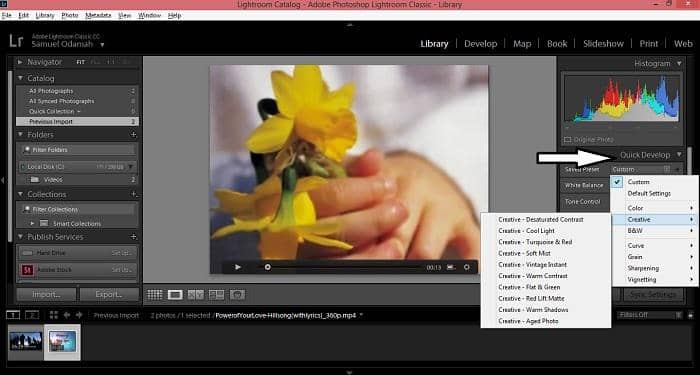 how to edit video in lightroom