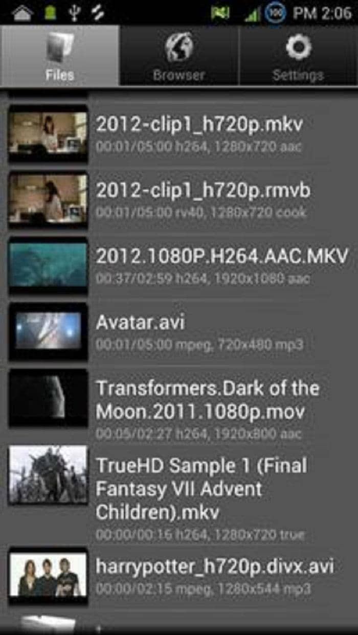 flv player for android