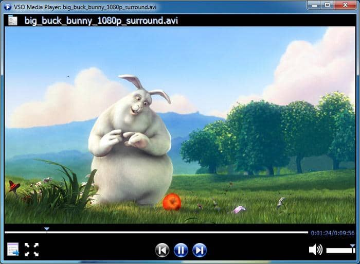 free media player with a clear interface
