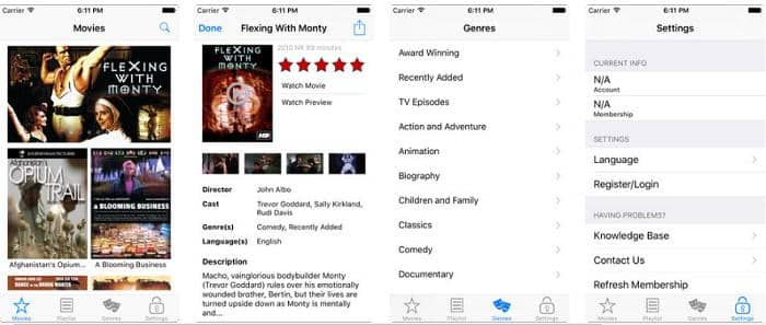 best free movie app for iphone