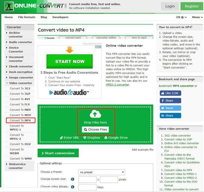 MOV to MP4 converter Fee Online