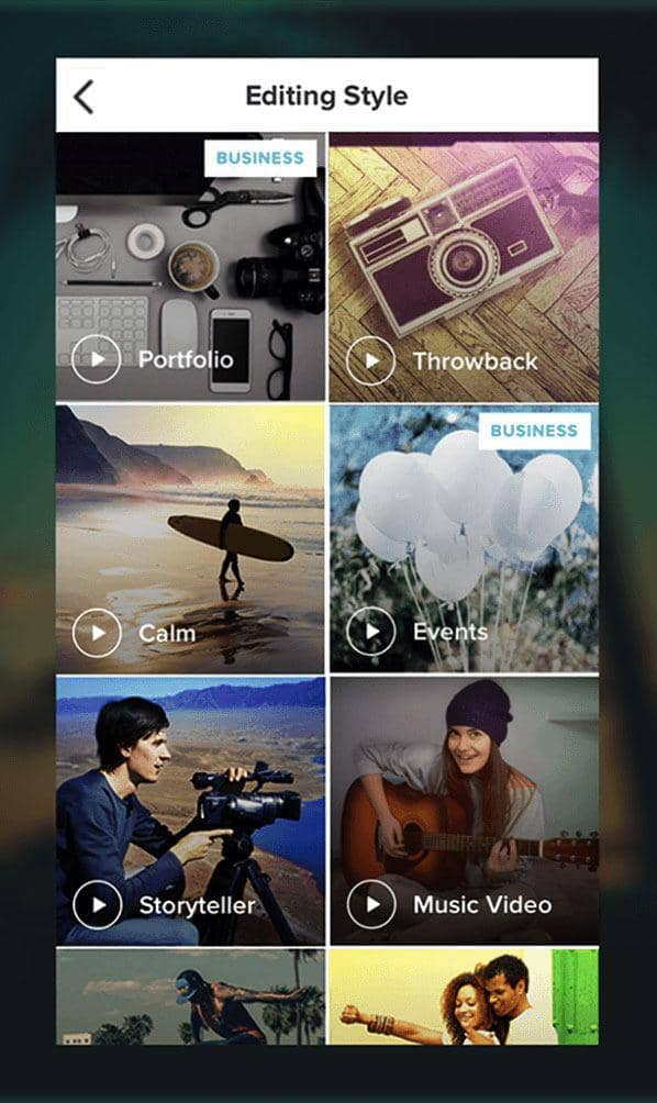 video editing app for android and ios that uses AI to organize your footage