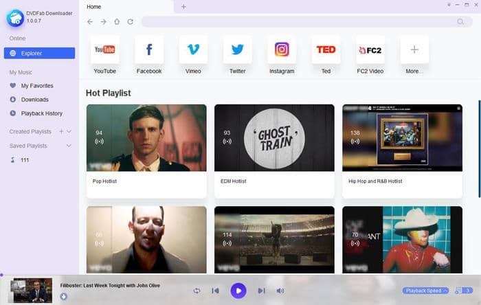 Download playlist from YouTube with DVDFab Video Downloader