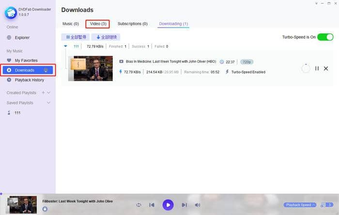 Download YouTube playlist with Turbo-speed options