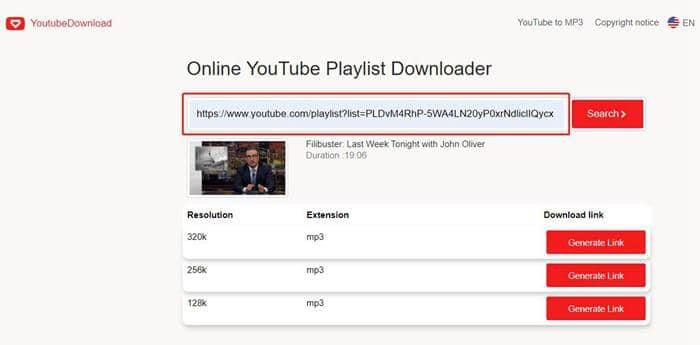 Download YouTube playlist downloader online for free