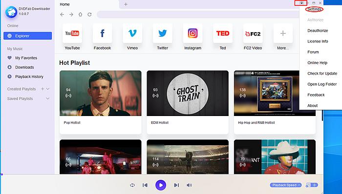Customize DVDFab YouTube to MP3