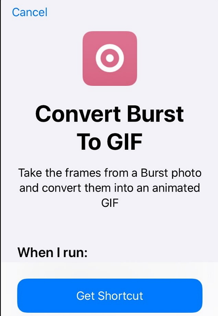 How to make gif with iphone