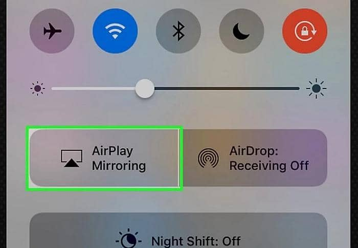 Play video from iPhone to TV through Apple Control Center