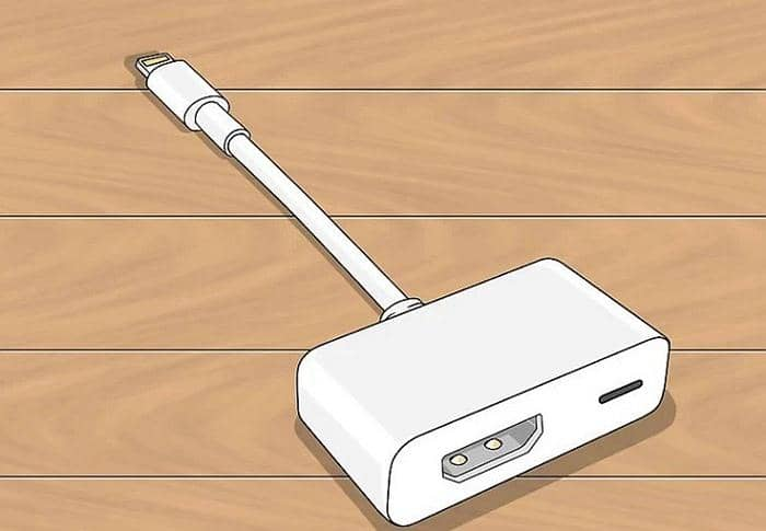 Play videos from iPhone to TV via Apple Adapter