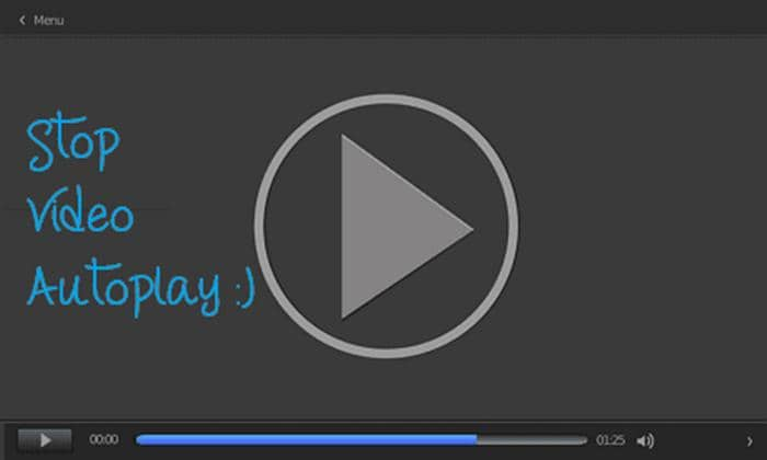 how to stop videos from automatically playing