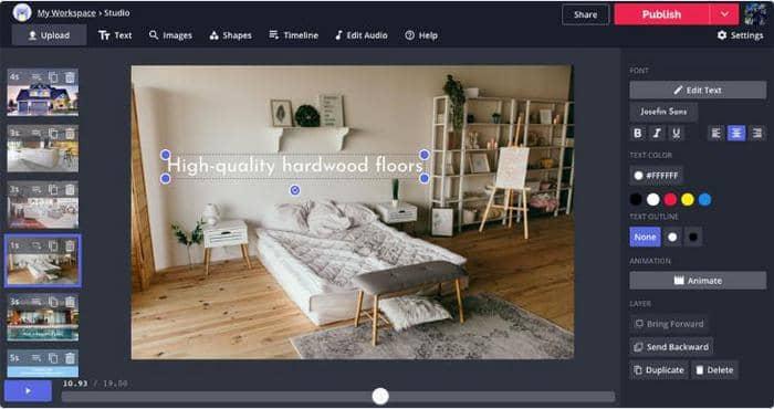 Kapwing free image to video converter