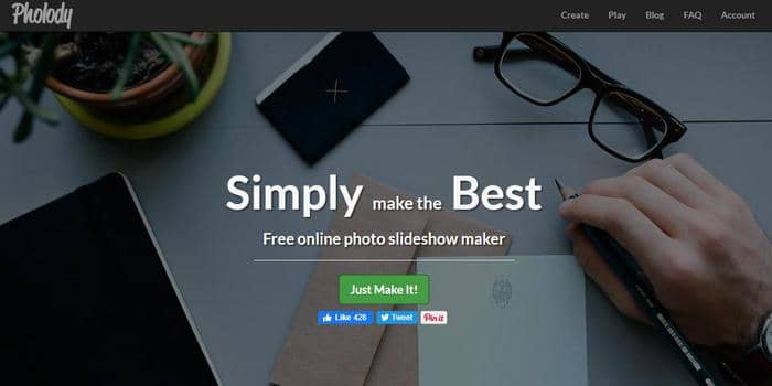 Pholody free online image to video maker