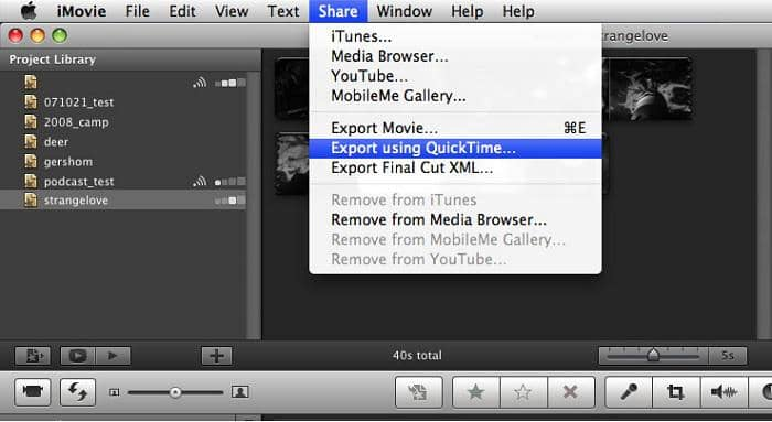 How to export iMovie to MP4