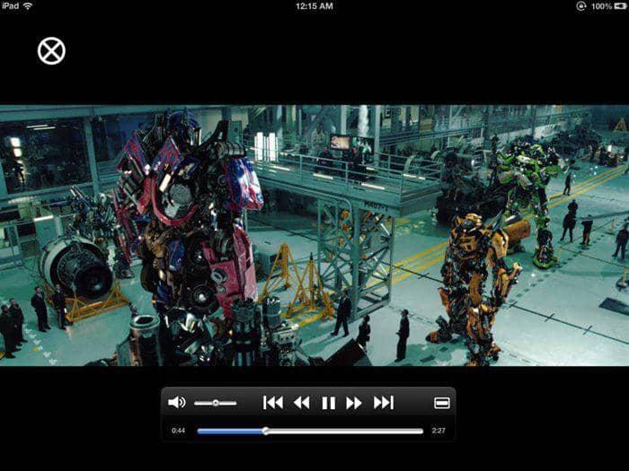 iphone/ipad video player