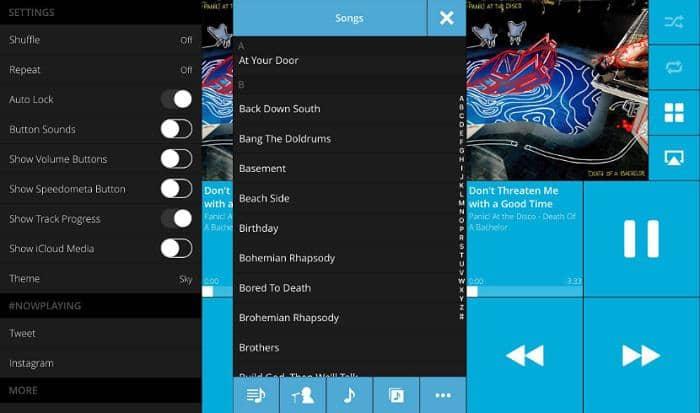 music player on lock screen iphone