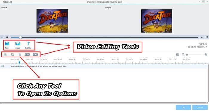 edit videos with dvdfab video converter