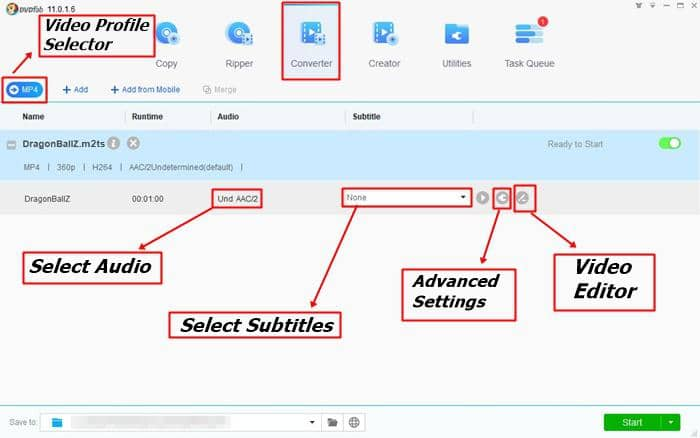 convert m2ts to any other video formats