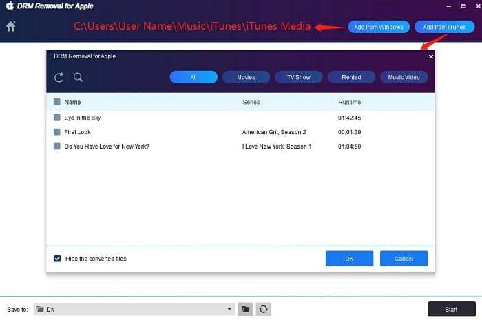 remove drm from m4v files and convert them to mp4 format
