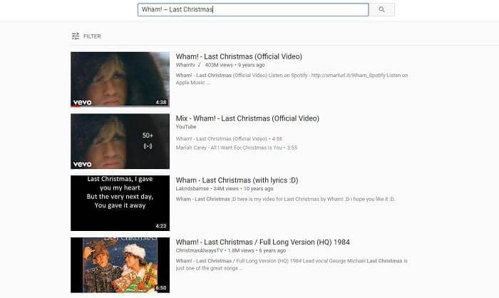 download modern christmas songs from youtube