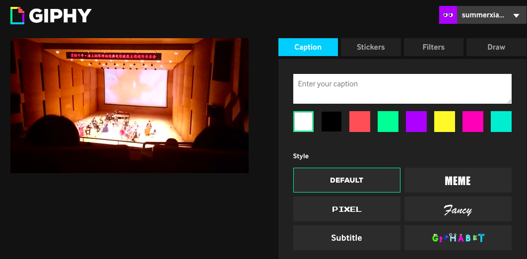 Customize gif with giphy