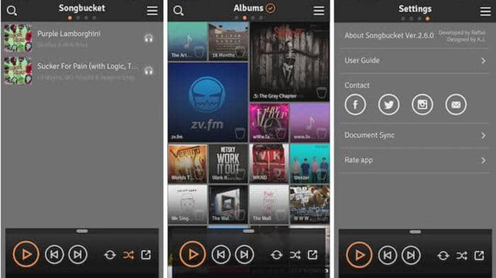 nice music players app for ios