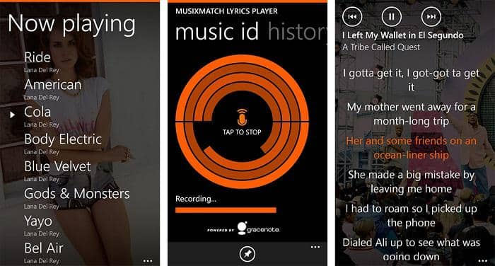 a good music player which could display lyrics