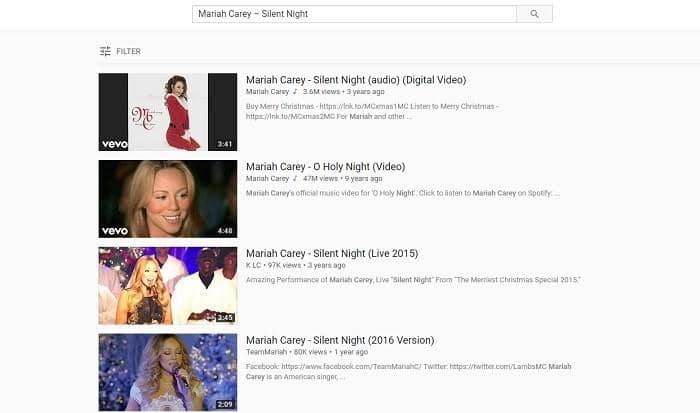 download public domain christmas songs from youTube