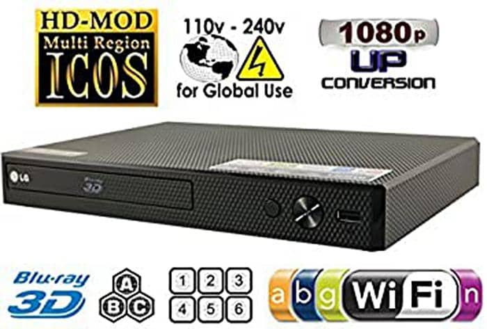 Region Free Blu-ray Player with Wi-Fi Connection