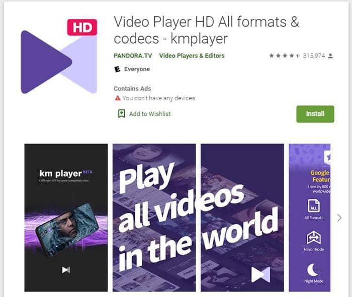 KMPlayer-Video Player HD All formats & codecs
