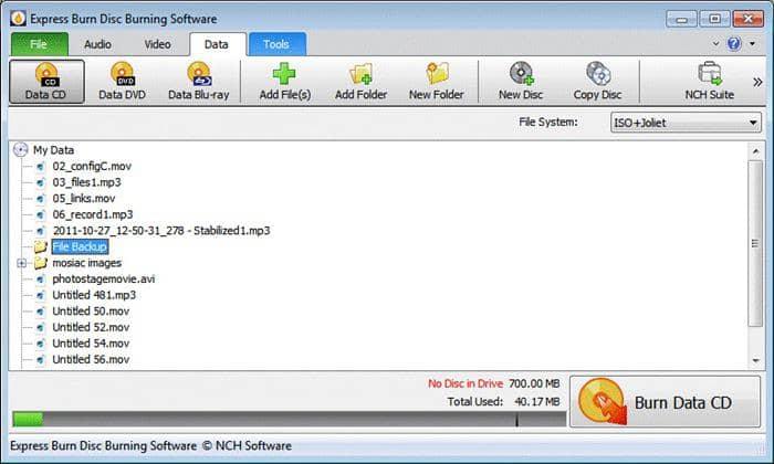 Alternative Blu-ray burning software - Express Burn