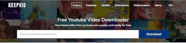 Online YouTube to MP4 Converter - keepvid